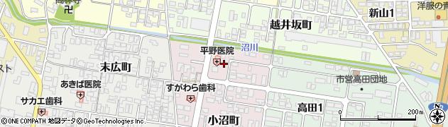 山形県寒河江市小沼町116周辺の地図