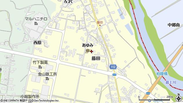 山形県西村山郡大江町藤田401周辺の地図