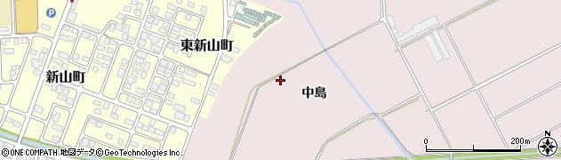 山形県寒河江市日田中島周辺の地図