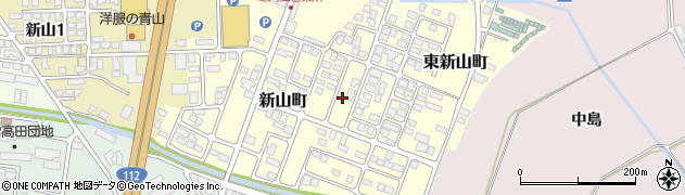 山形県寒河江市新山町57周辺の地図