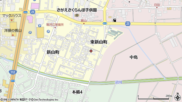 山形県寒河江市東新山町227周辺の地図