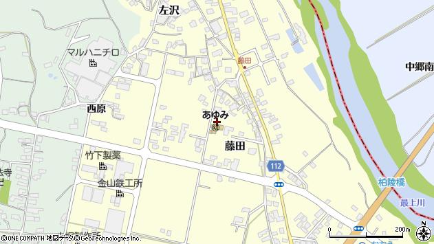 山形県西村山郡大江町藤田大花周辺の地図