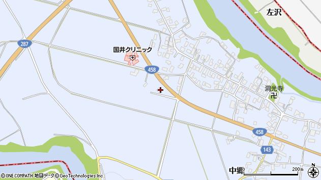 山形県寒河江市中郷塩田周辺の地図