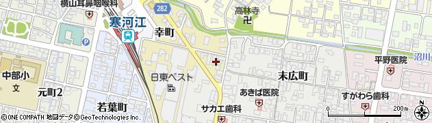 山形県寒河江市幸町3周辺の地図