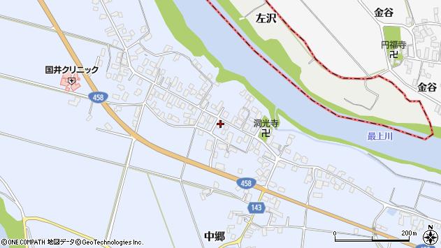 山形県寒河江市中郷1013周辺の地図