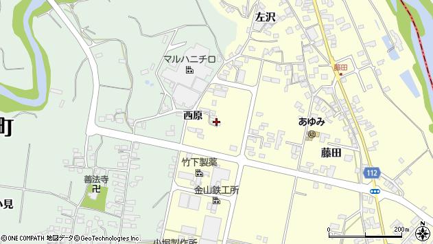 山形県西村山郡大江町藤田843周辺の地図