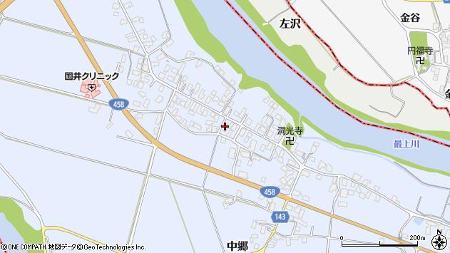 山形県寒河江市中郷1015周辺の地図