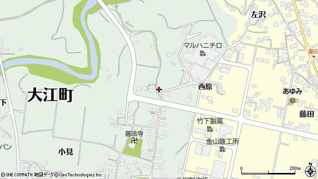 山形県西村山郡大江町小見243周辺の地図