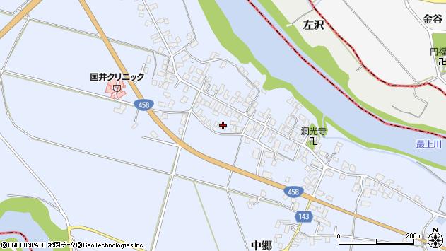 山形県寒河江市中郷1024周辺の地図