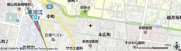 山形県寒河江市末広町1周辺の地図
