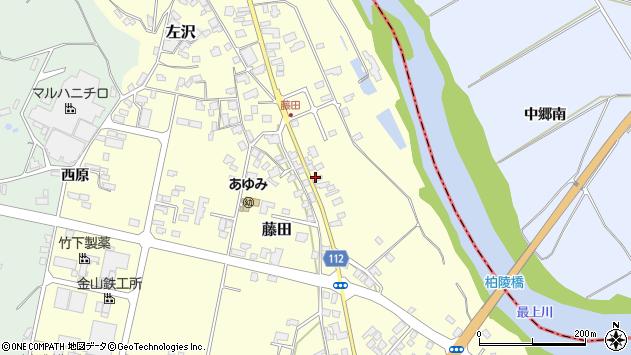 山形県西村山郡大江町藤田122周辺の地図