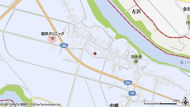 山形県寒河江市中郷1025周辺の地図