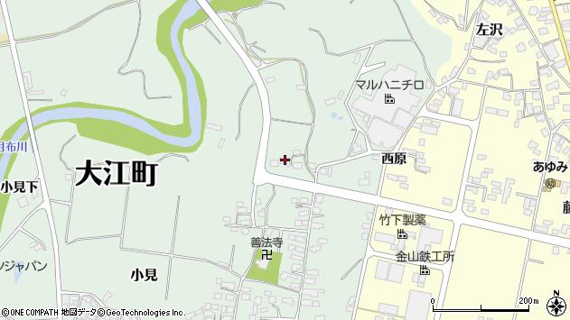 山形県西村山郡大江町小見248周辺の地図