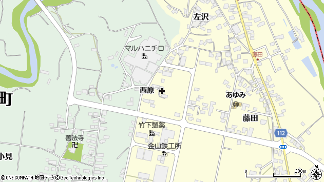 山形県西村山郡大江町藤田846周辺の地図