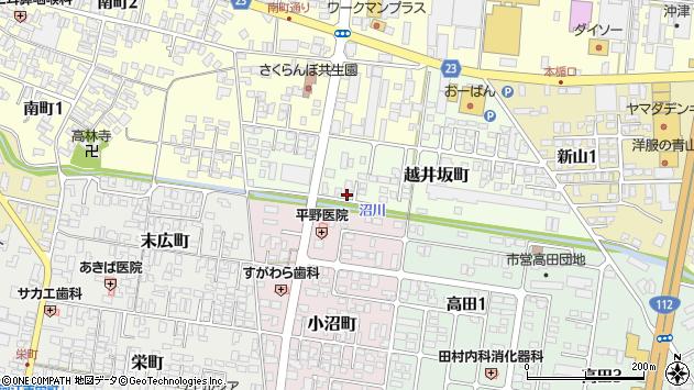 山形県寒河江市越井坂町43周辺の地図
