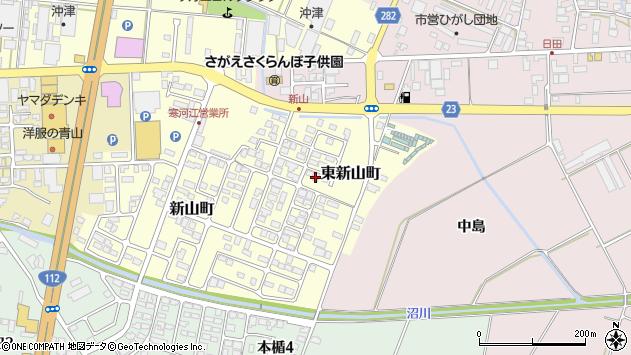 山形県寒河江市東新山町229周辺の地図