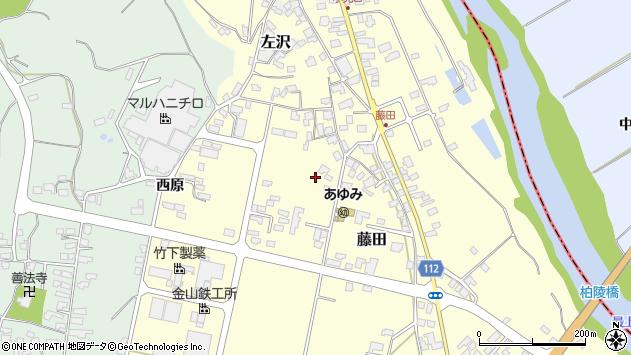 山形県西村山郡大江町藤田442周辺の地図