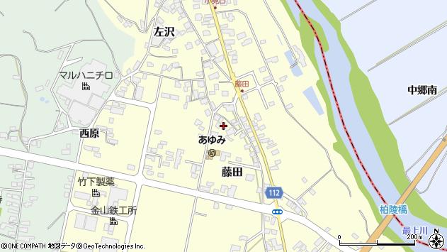 山形県西村山郡大江町藤田394周辺の地図