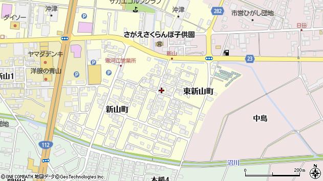 山形県寒河江市東新山町208周辺の地図