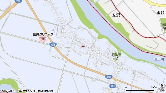 山形県寒河江市中郷1022周辺の地図