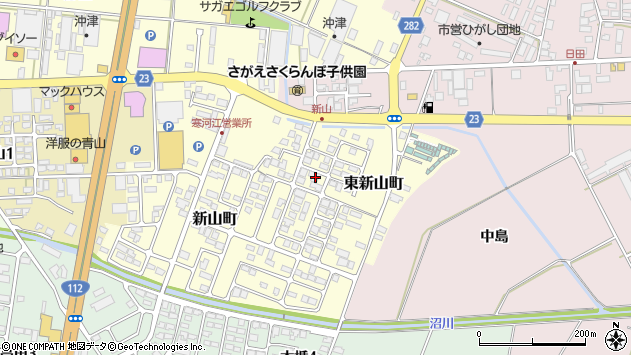 山形県寒河江市東新山町209周辺の地図