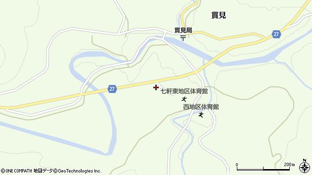 山形県西村山郡大江町貫見272周辺の地図