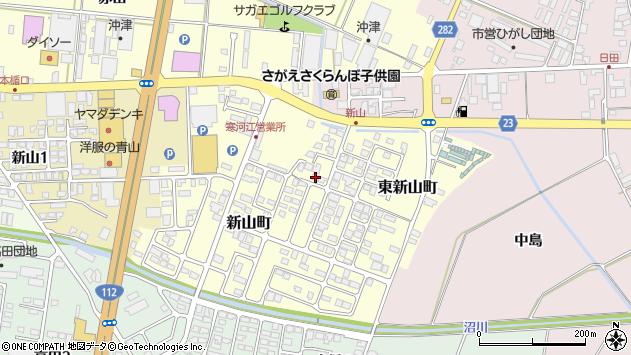 山形県寒河江市東新山町191周辺の地図