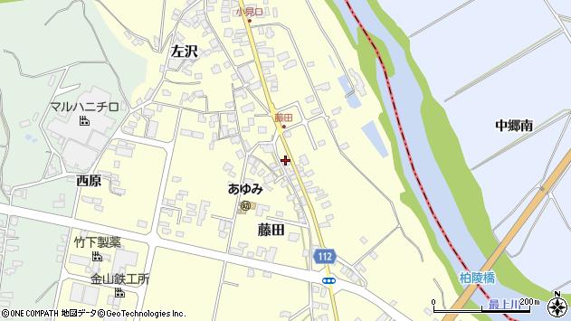 山形県西村山郡大江町藤田98周辺の地図