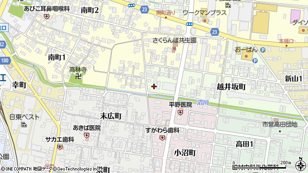 山形県寒河江市越井坂町35周辺の地図