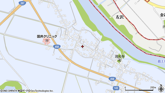 山形県寒河江市中郷1032周辺の地図
