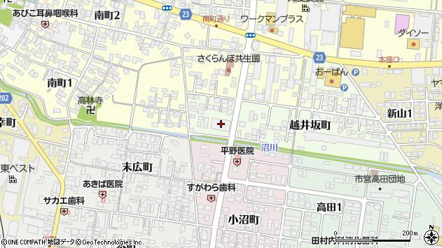 山形県寒河江市越井坂町38周辺の地図