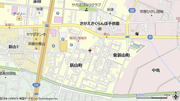 山形県寒河江市新山町3周辺の地図