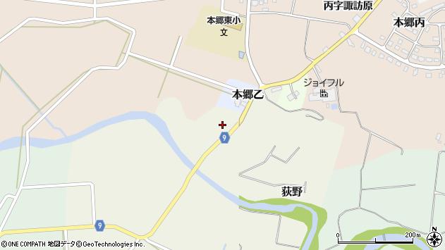 山形県西村山郡大江町荻野13周辺の地図