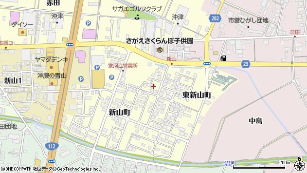 山形県寒河江市東新山町192周辺の地図