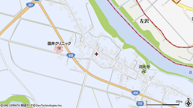 山形県寒河江市中郷1034周辺の地図