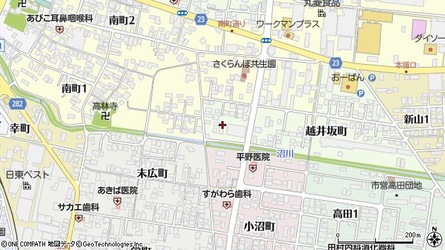 山形県寒河江市越井坂町36周辺の地図