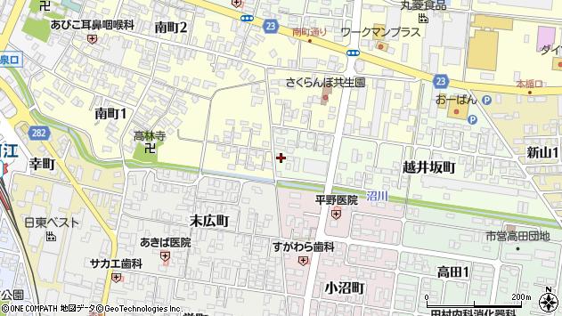 山形県寒河江市越井坂町34周辺の地図