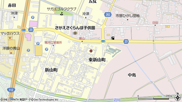 山形県寒河江市東新山町231周辺の地図