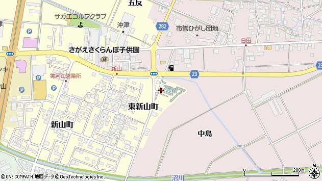 山形県寒河江市東新山町265周辺の地図