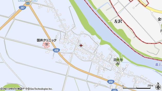 山形県寒河江市中郷945周辺の地図