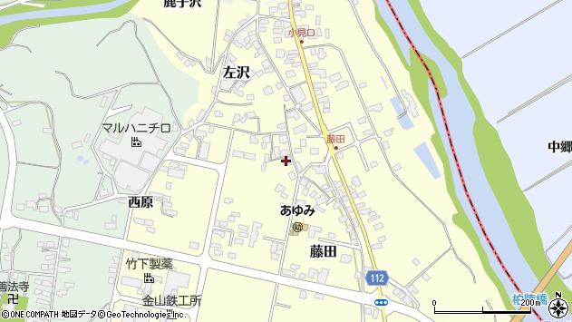山形県西村山郡大江町藤田438周辺の地図