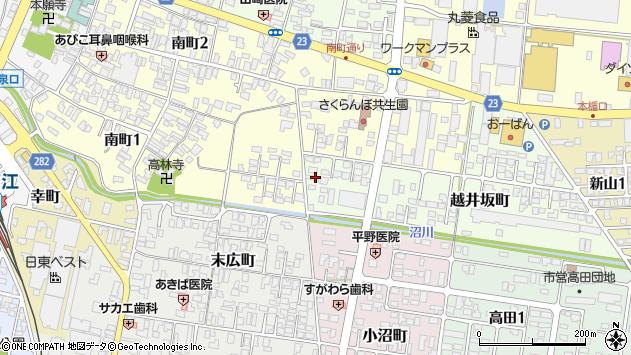 山形県寒河江市越井坂町49周辺の地図