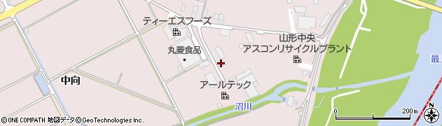 山形県寒河江市日田中向338周辺の地図