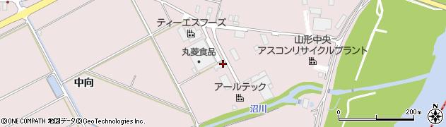 山形県寒河江市日田中向周辺の地図
