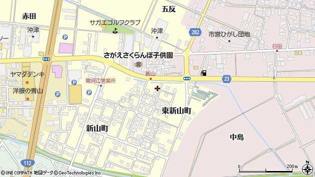 山形県寒河江市東新山町213周辺の地図