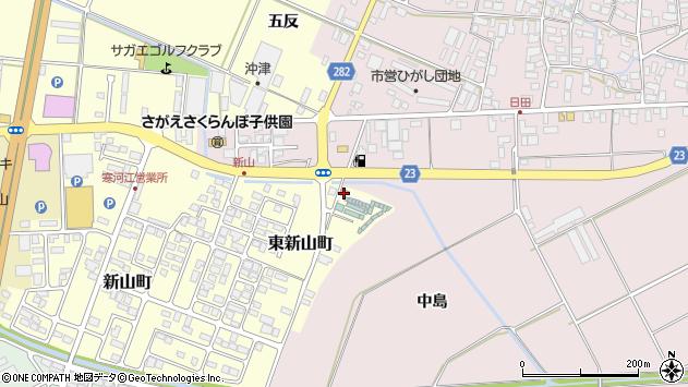 山形県寒河江市東新山町266周辺の地図