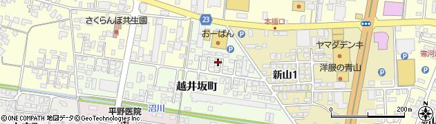 山形県寒河江市越井坂町134周辺の地図