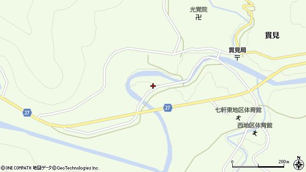 山形県西村山郡大江町貫見347周辺の地図