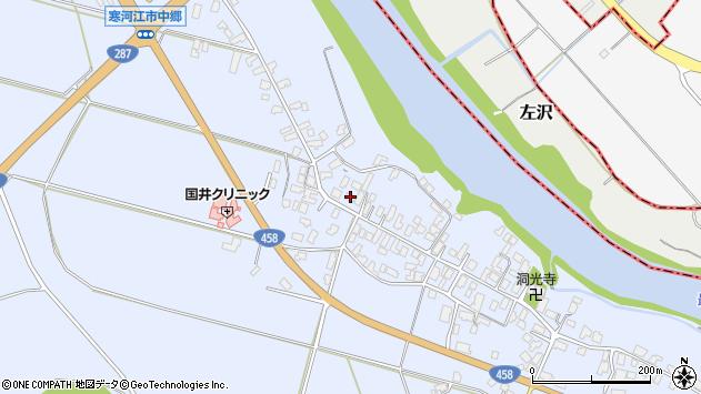 山形県寒河江市中郷950周辺の地図