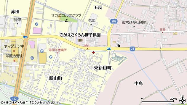 山形県寒河江市東新山町214周辺の地図